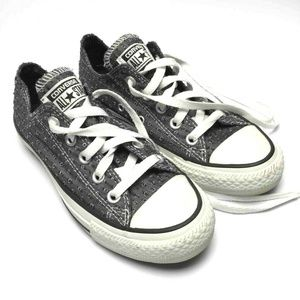 Converse All Star Sneakers Gray Perforated Size 5